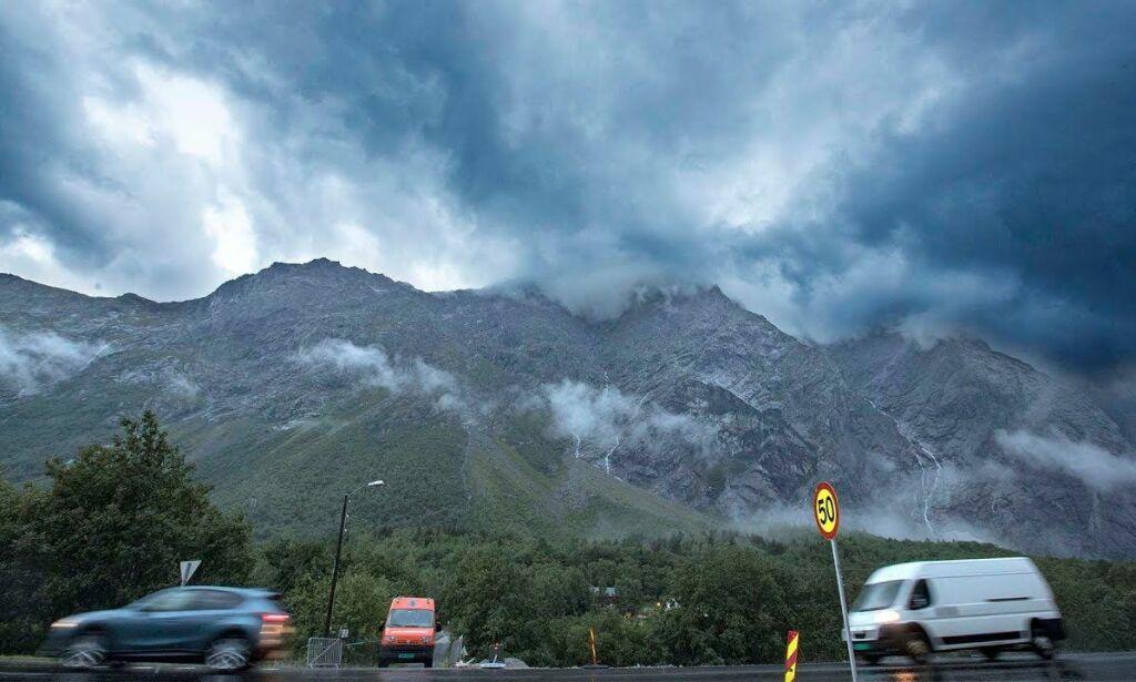 image: Ekstrem rasfare for fjellet Mannen. - Voldsom reaksjon i fjellet
