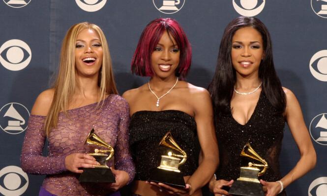 ENORM SUKSESS: Destiny's Child var opprinnelig en kvartett, før det oppsto turbulens innad i gruppen. Fra venstre: Beyonce Knowles, Kelly Rowland og Michelle Williams.