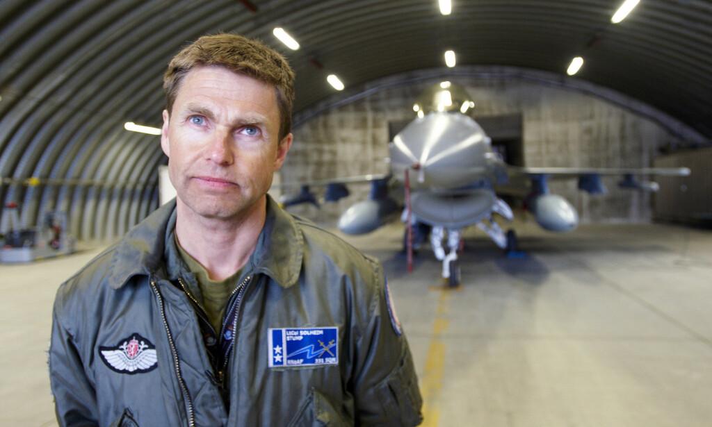 KREVENDE: Daværende oberstløytnant Bård Reidar Solheim ledet den norske F-16-skvadronen som deltok i Libya. Han mener oppdraget var krevende for de norske pilotene.  Foto: Anders Vanderloock / Scanpix