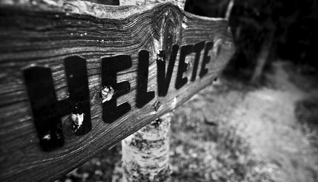 <strong>RELIGION:</strong> Helvete er et sted i Norge, men også et banneord som språkforsker Ruth Vatvedt Fjeld har plassert i kategorien «Gud». Foto: Thorfinn Bekkelund / Samfoto