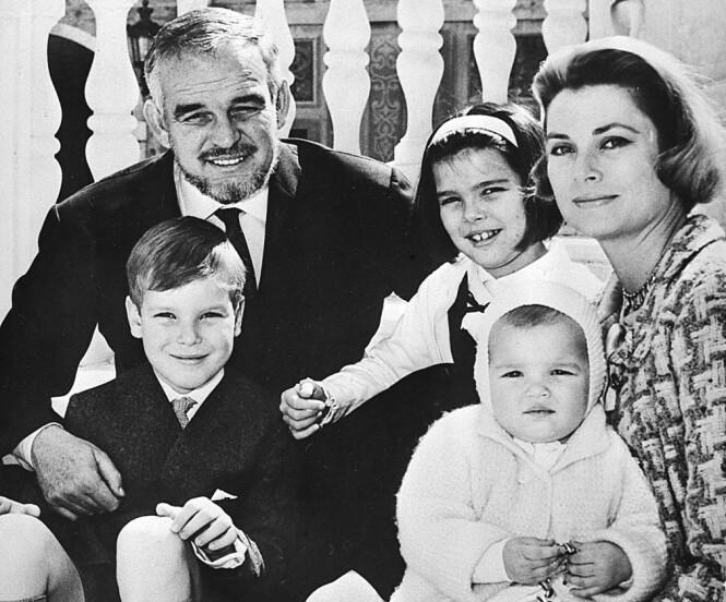 <strong>FAMILIEIDYLL:</strong> Fyrst Rainier III og kona Grace Kelly fikk tre barn sammen. Hun ble bare 52 år. FOTO: NTB Scanpix