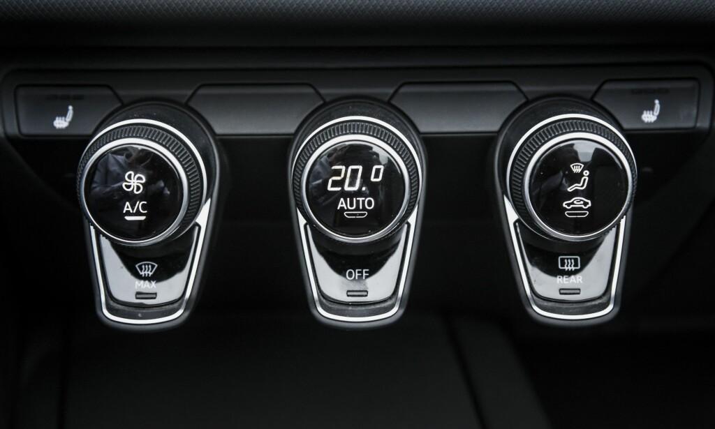 LEKKERT: De ser ut som pynt men har minst tre funksjoner hver. Audi er utrolig gode på detaljer. Foto: Jamieson Pothecary