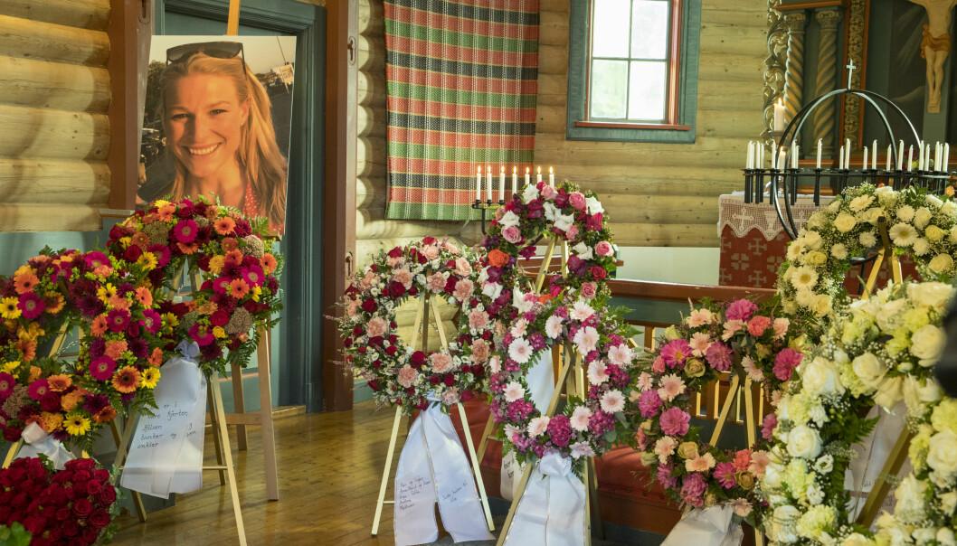 <strong>GIKK BORT:</strong> Langrennsløperen Ida Eide omkom på tragisk vis etter et mosjonsløp. Begravelsen gikk i Lidar kirke 14. september. Foto: Vidar Ruud / NTB scanpix