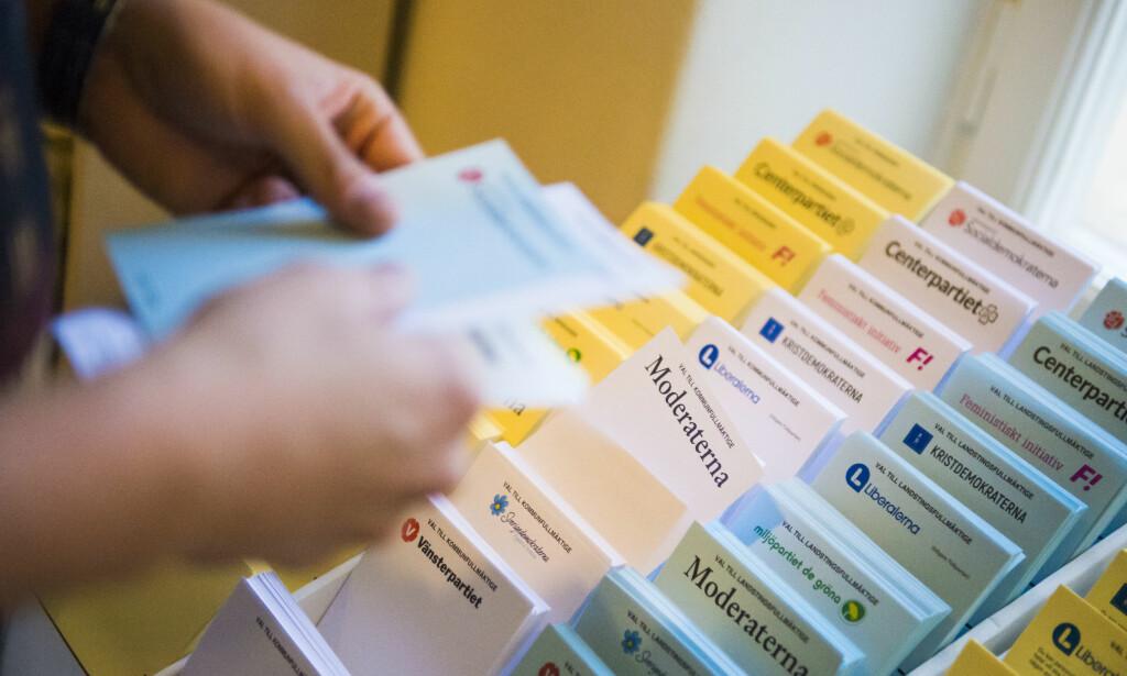 OMSTRIDT VALG: Det tok ikke lang tid før valgfusk ble diskutert i forbindelse med det svenske valget. Foto: NTB Scanpix
