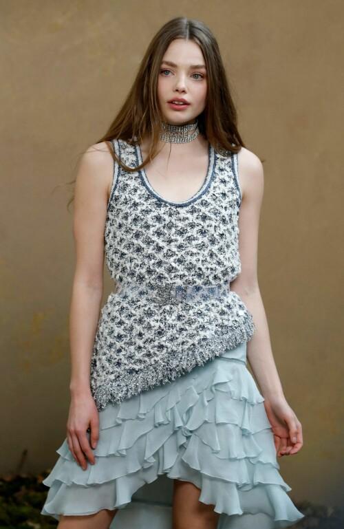 <strong>MODELLYNDLING:</strong> Kristine Frøseth har på få år imponert i modellbransjen, der hun har gjort kampanjer for blant annet Prada, Victoria's Secret og See by Chloé. Foto: NTB Scanpix