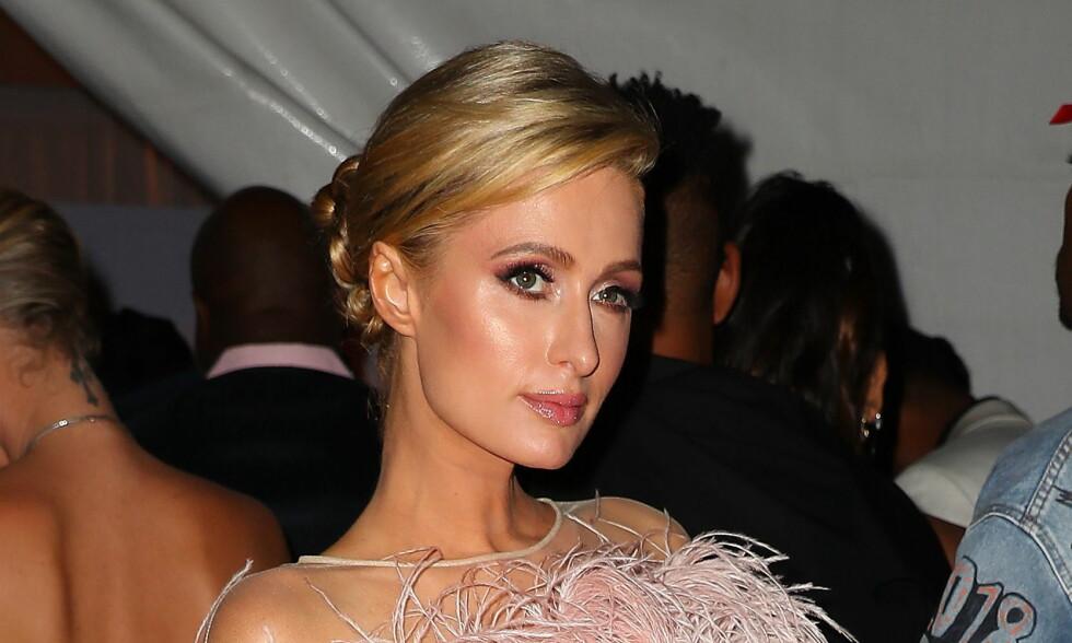 UT MOT VENNINNEN: Paris Hilton reagerer på Kim Kardashian Wests nye bilder. Foto: NTB Scanpix