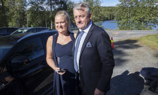 STOLTE FORELDRE: Tone og Gjert Ingebrigtsen avbildet på bryllupsdagen til Filip og Astrid. Foto: Vidar Ruud / NTB scanpix