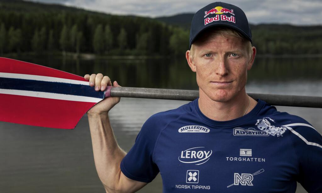 GULL: Roer Kjetil Borch tok gull i singlesculler i ro-VM. Foto: Tore Meek / NTB scanpix