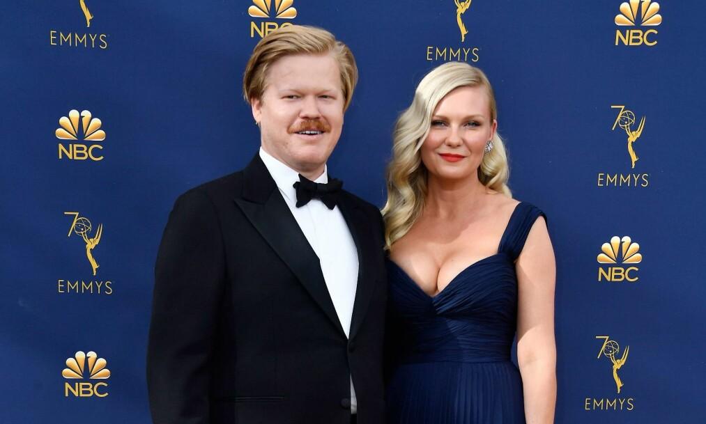 BLE FORELDRE: I mai ble Kirsten Dunst og forloveden Jesse Plemons foreldre for første gang. Natt til tirsdag var de tilbake på den røde løperen. Foto: NTB Scanpix