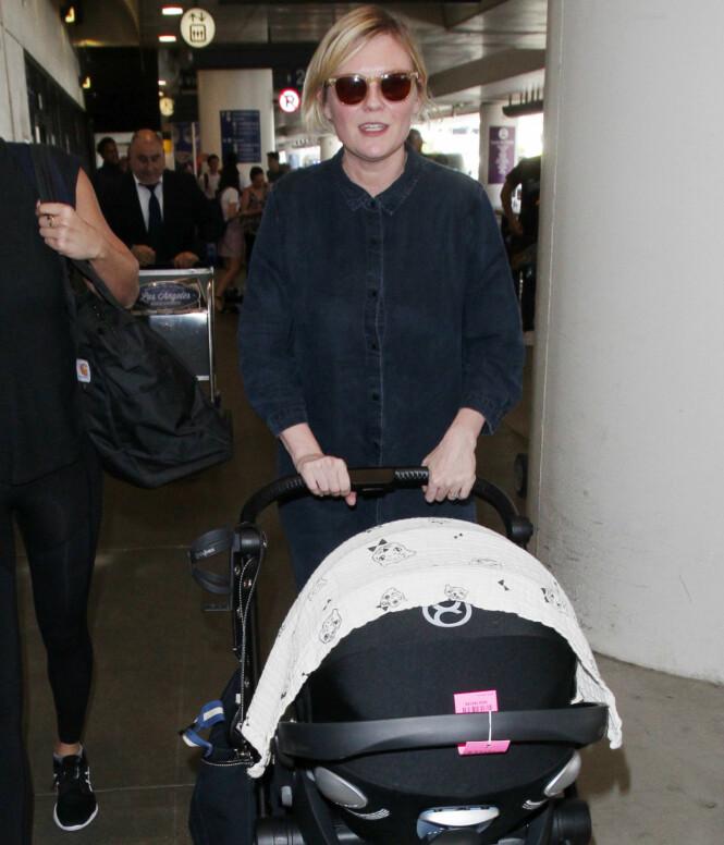 SKJULER BABYEN: Kirsten Dunst har foreløpig ikke vist frem sin nye sønn. Foto: NTB Scanpix