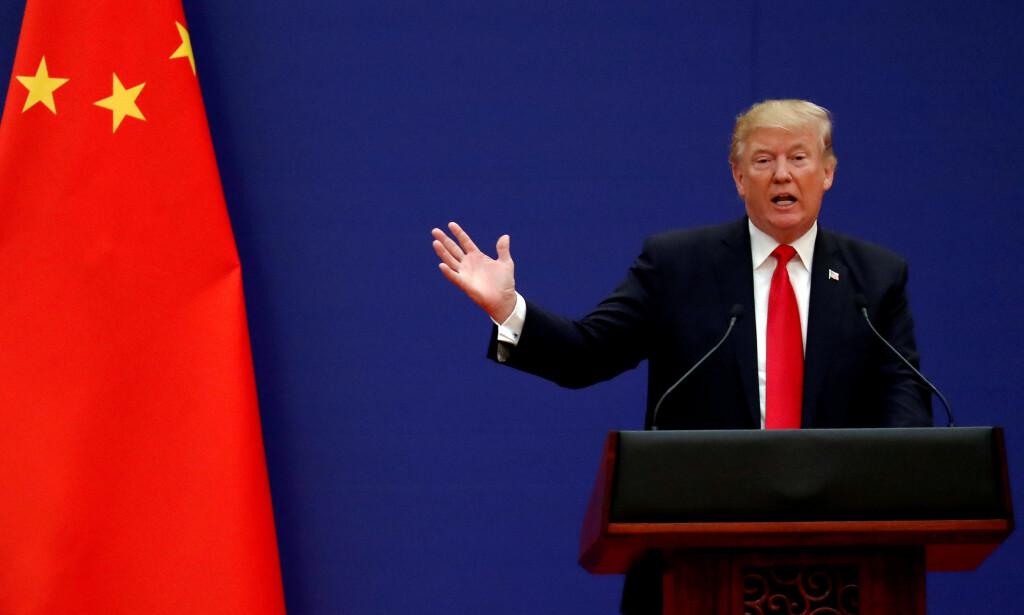 SVARER: Kina varsler nå at de vil innføre tiltak som svar på president Trumps nye toll. Foto: REUTERS/Damir Sagolj / NTB Scanpix