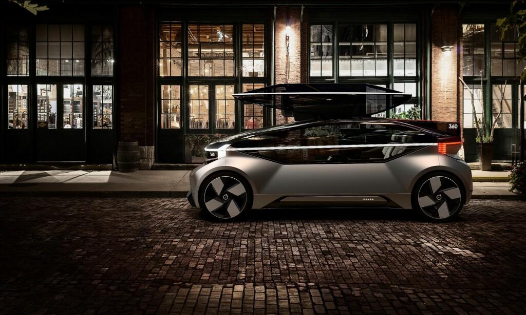 VOLVO 360C: Slik ser framtiden ut, om Volvos siste konseptbil blir virkelighet. Foto: Volvo