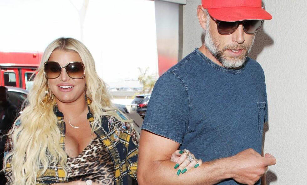 VENTER BARN: Jessica Simpson og ektemannen blir foreldre igjen. Foto: NTB Scanpix