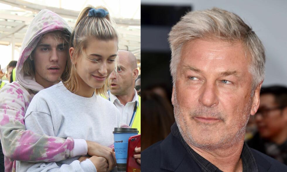 GIFT: Onkelen til Hailey Baldwin, Alec Baldwin, har bekreftet at Justin Bieber har giftet seg med niesen hans. Foto: NTB Scanpix