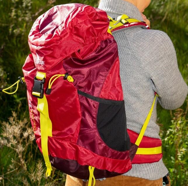 LITE BEHAGELIG: Xplore har en myk rygg som bøyer seg med for mye vekt, men kan være ok hvis du skal bære lite. Foto: Per Ervland