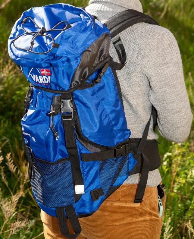 KUN LETT BAGASJE: Sekken har en svært bøyelig rygg, noe som gjør at den egner seg dårlig for tung bagasje. Foto: Per Ervland