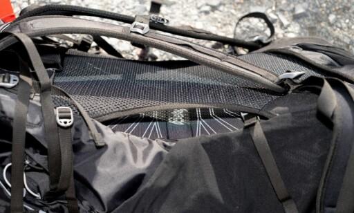 VENTILERENDE: Netting i ryggen føles avkjølende. Per Ervland