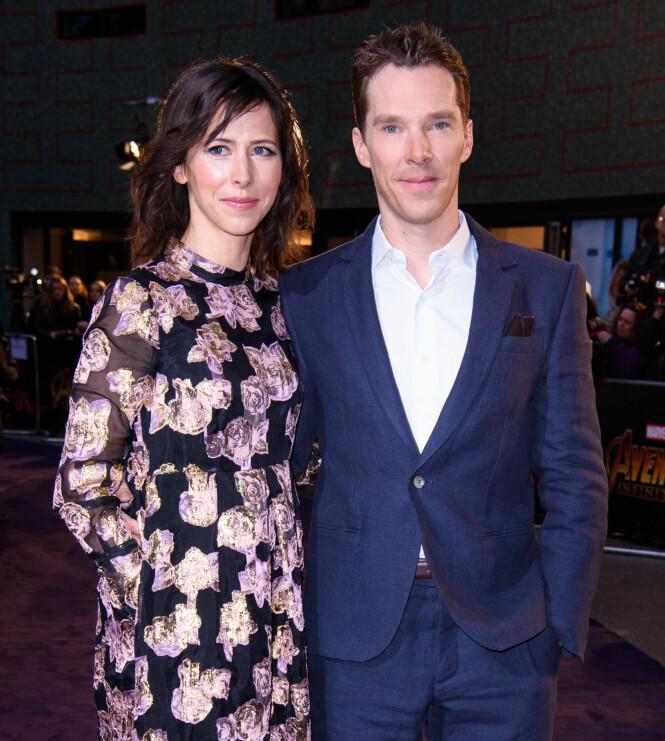 GIFT: Benedict og Sophie giftet seg i 2015 og har to sønner sammen. Her var ekteparet sammen tidligere i år. Foto: NTB Scanpix