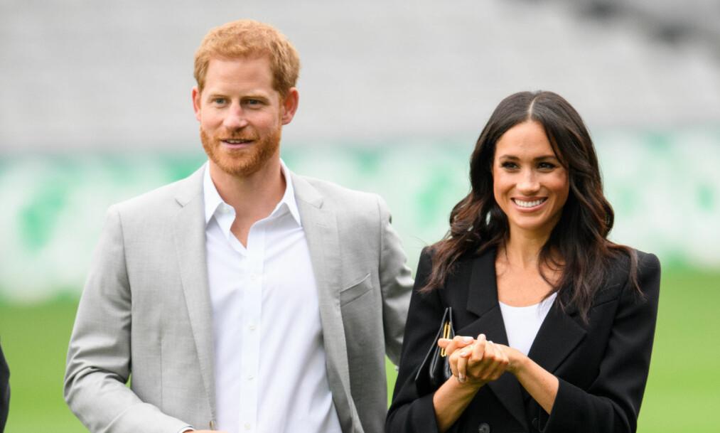 AVSLØRT: Prins Harry og hertuginne Meghan er et av verdens heteste par, noe som kan gjøre det vanskelig å få alenetid. Nå er dekknavnene deres avslørt. Foto: NTB Scanpix