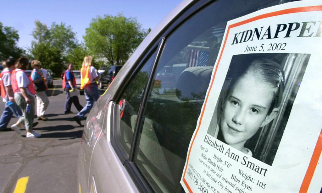 LETEMANNSKAP: Flere tusen frivillige skal ha deltatt i søket etter Elizabeth Smart, som forsvant fra familiehjemmet 5. juni 2002. Foto: NTB Scanpix