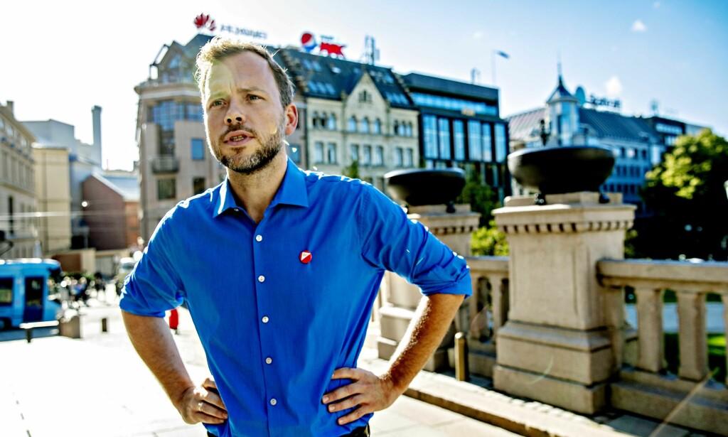 VELFERD: SV-leder Audun Lysbakken varsler kamp om regjeringens avbyråkratiseringsreform. Foto: Bjørn Langsem / Dagbladet