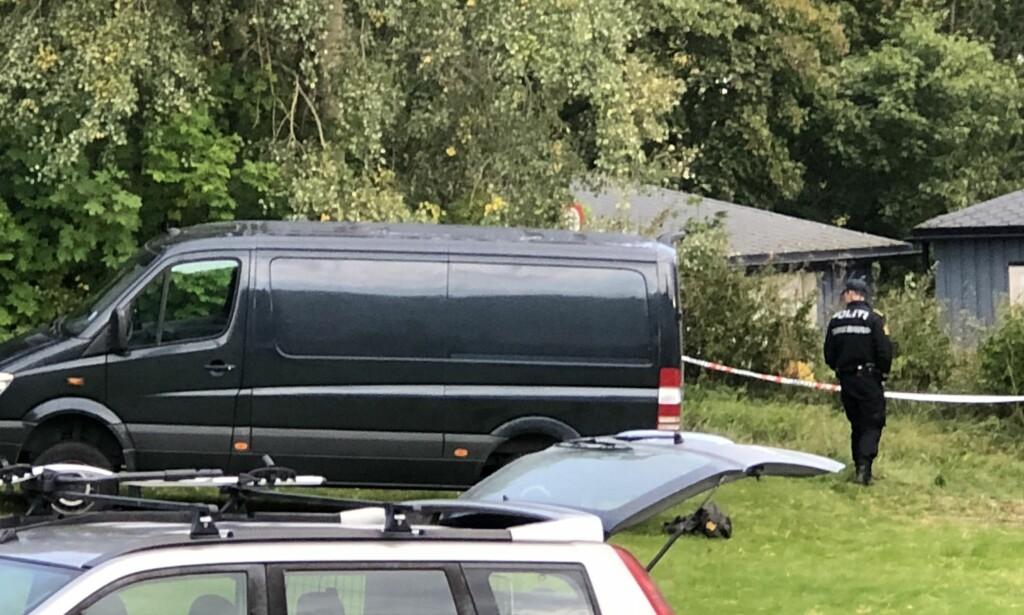 FUNNET PÅ TURSTI: Den døde mannen ble funnet i nærheten av et boligområde i Levanger. Foto: Sigurd August Sandhaug Nitz