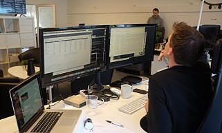 Linkpulse-gjengen opplever få problemer med MongoDB i produksjon. Magnus Lieseter jobber som hosting-ansvarlig i Linkpulse. Foto: Jørgen Jacobsen