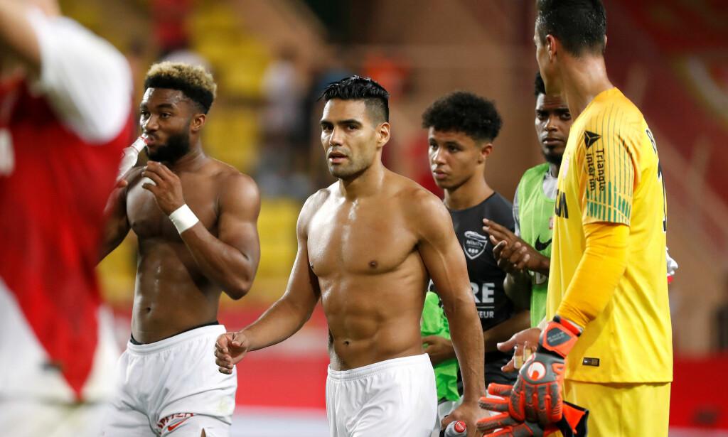 1-1: Radamel Falcao (i midten) scoret Monacos mål. Foto: NTB scanpix