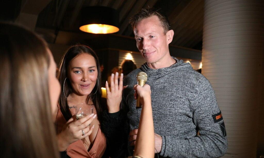 FØRSTE DATE: Helene Hima og Frank Løke forteller at dette er deres første ordentlige date. Foto: Christian Roth Christensen / Dagbladet