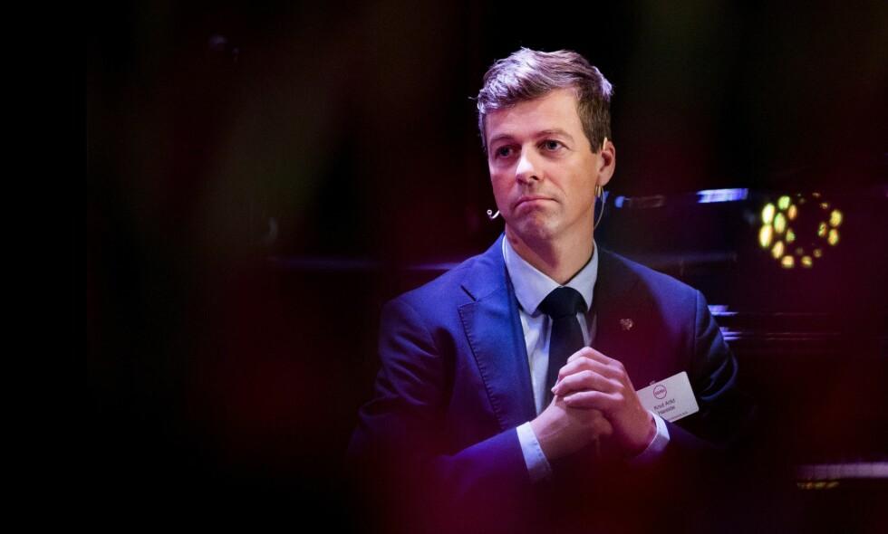 TVILEREN: KrF-leder Hareide vegrer seg og trekker ut prosessen der partiet skal foreta det skjebnetunge valget mellom å fortsette som nå, gå inn i Solberg-regjeringen eller åpne for en løsning til venstre. Foto: NTB Scanpix