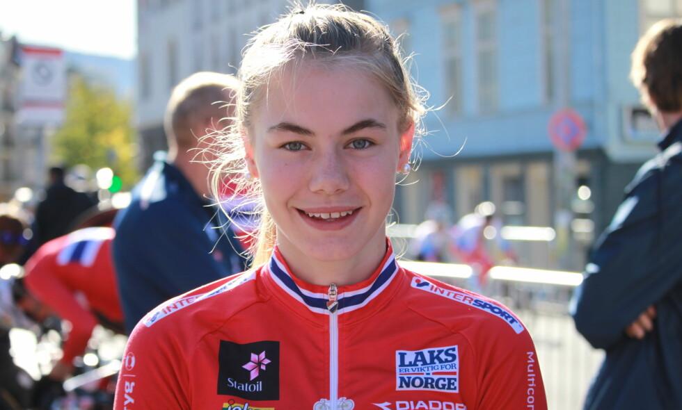 INGEN NORSKE MEDALJER: Martine Gjøs og Silje Mathisen åpnet VM for Norges del, mandag. Her er førstnevnte avbildet. FOTO: Norges Cykleforbund
