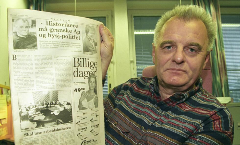 PARTISEKRETÆR: Tidligere partisekretær Ronald Bye i Arbeiderpartiet avbildet i 1993. Foto: NTB Scanpix
