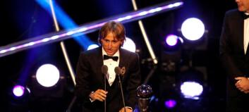 Rørt Modric kåret til verdens beste fotballspiller