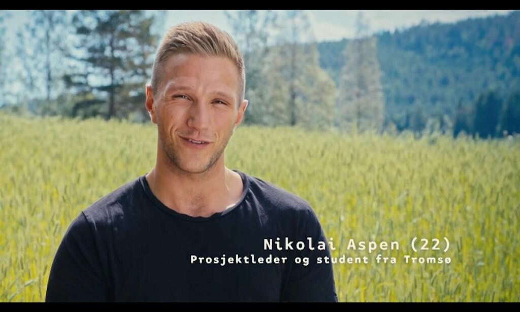 IKKE SPEKULATIV: Nikolai. Foto: TV2