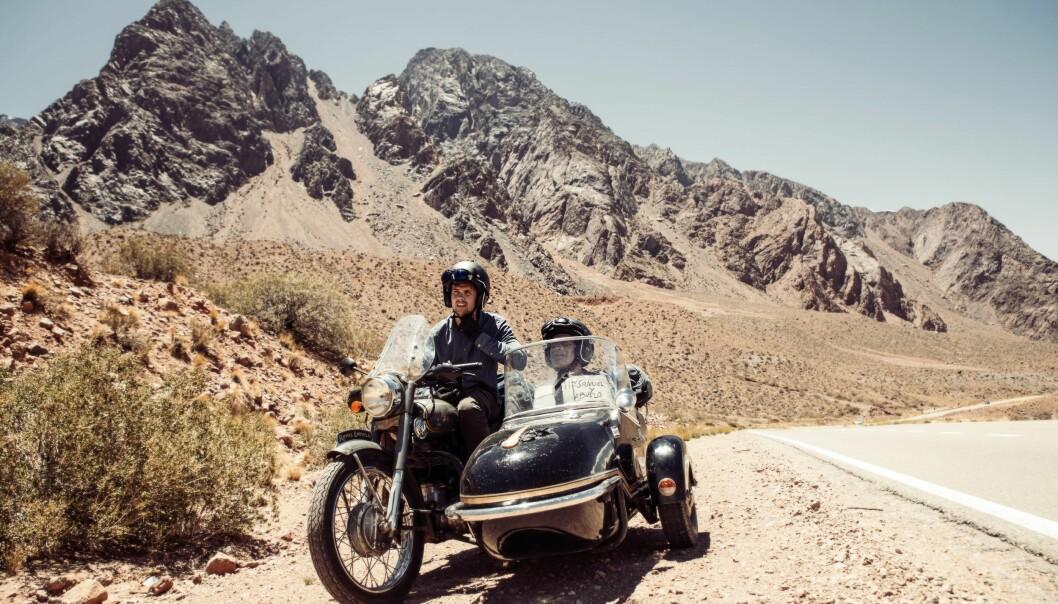 SØR-AMERIKA: En del av reisen rundt jorden ble tilbrakt i motorsykkel i Sør-Amerika. Foto: Samuel Massie
