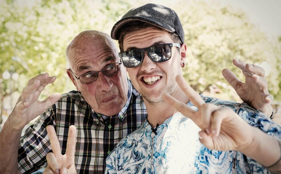 KOMPISER: Arne Ulvolden og barnebarnet Samuel er bestekompiser. Foto: Samuel Massie