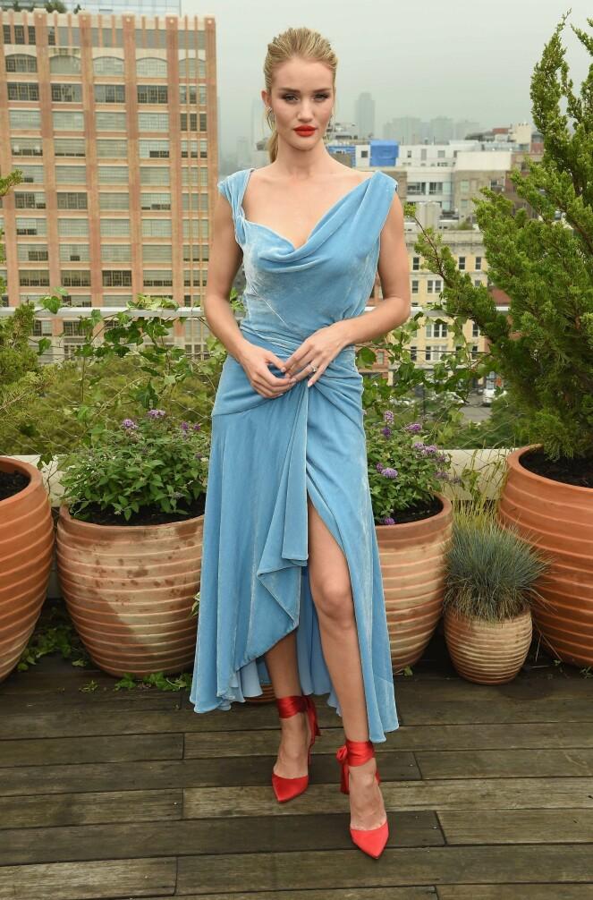 FLOTT: Rosie foretrekker en elegant look. Foto: Scanpix