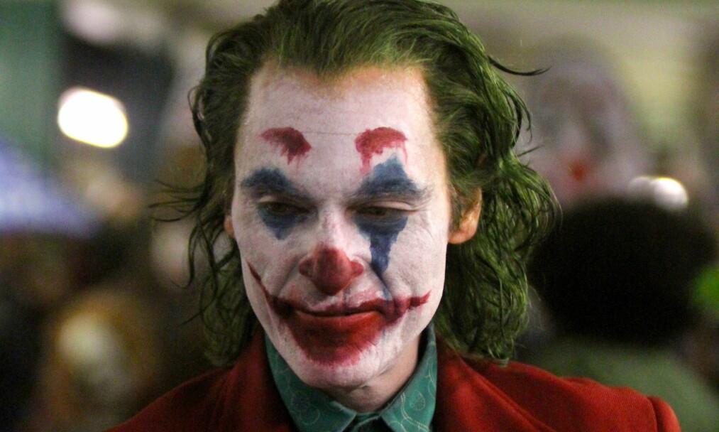 <strong>UNDER INNSPILLING:</strong> Dette bildet av Joaquin Phoenix som Jokeren ble tatt under innspillingen til filmen. Foto: Splash New / NTB scanpix