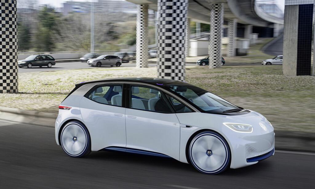 PRØVEKJØRT: Vi har allerede prøvkjørt VW I.D., som kommer på markedet sent neste år. Foto: Volkswagen