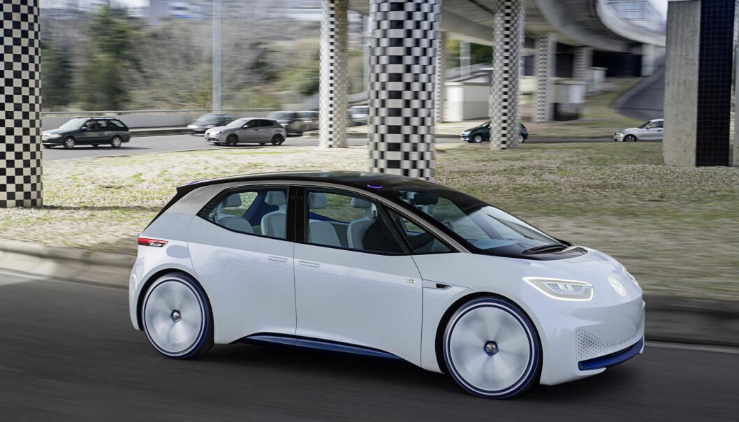 <strong>PRØVEKJØRT:</strong> Vi har allerede prøvkjørt VW I.D., som kommer på markedet sent neste år. Foto: Volkswagen
