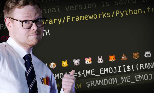 image: Slik får du emojier i terminalen din