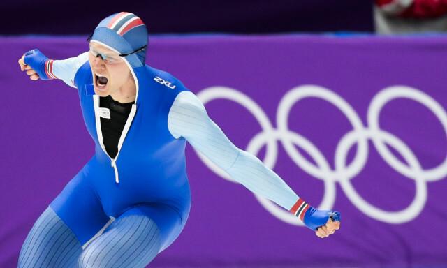 047ba916 GULLØPET: Håvard Holmefjord Lorentzen vinner 500 meter skøyter for menn i  Gangneung Oval. Selvfølgelig