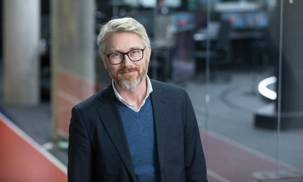 ENIGE: TV 2-sjef Olav T. Sandnes og TV 2 har kommet til enighet med Kulturdepartementet om en avtale om kommersiell allmennkringkasting. Dermed forplikter TV 2 seg på å være et kommersielt alternativ til NRK. Foto: TV 2