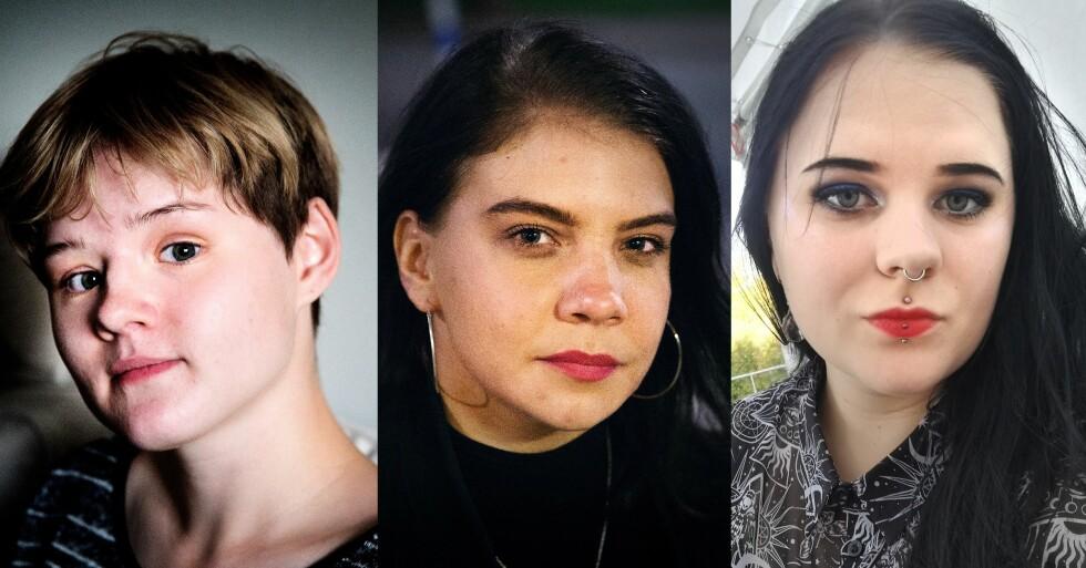 SEX SOM SELVSKADING: Gabriella (20), Ida W (25), Ida A (22) har alle solgt sex. Dette er deres historier. Foto: Henning Lillegård/Privat