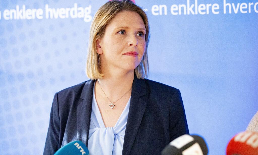 image: Listhaug i strupen på egen regjering: Langer ut mot Jan Tore Sanner
