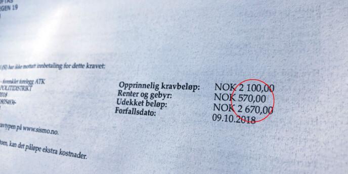 Er dette Norges høyeste purregebyr?