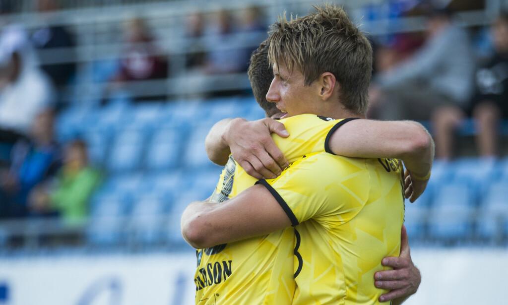 SIKRET CUPSEMI: Thomas Lehne Olsen scoret mot Bryne i 2-0-seieren torsdag. Foto: Trond Reidar Teigen / NTB scanpix