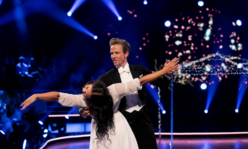KLARE: Jan Gunnar Solli og dansepartneren Rikke Lund for noen helger siden på parketten i «Skal vi danse». Foto: TV 2