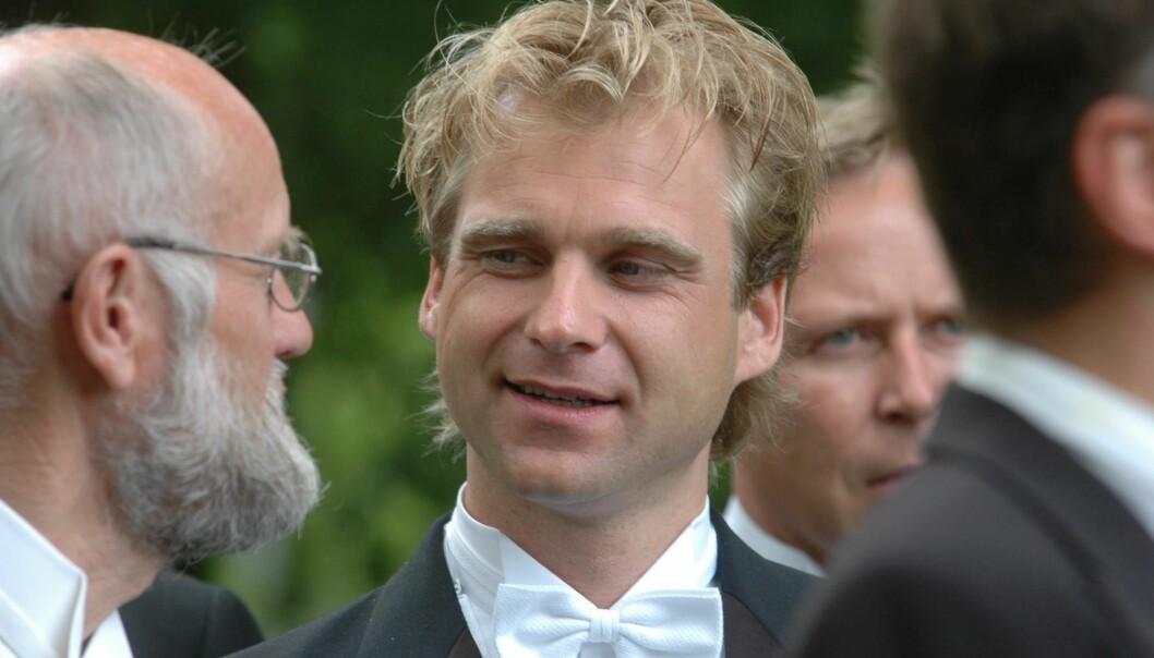 - KULTIVERT: Vebjørn Sand, her fotografert i Treschows bryllup i 2004, forteller at venninnen var et av de fineste menneskene han har møtt. Foto: NTB scanpix