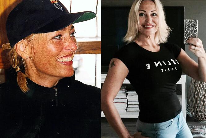 <strong>VILLA MEDUSA-MAY FØR OG NÅ:</strong> May Britt Renée Dale var 35 år da hun deltok i sesong en av Villa Medusa i 2000. Foto: TVNorge / Privat.
